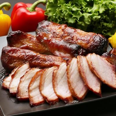 もりせん 炭焼の焼き豚とベーコンセット