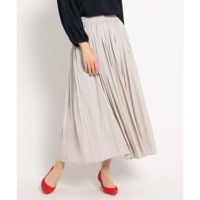 Dessin / デッサン 【XS~Lサイズあり・洗える】パウダーサテンロングスカート