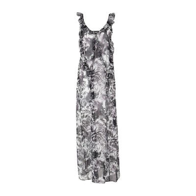 MARC ELLIS ロングワンピース&ドレス スチールグレー 42 ポリエステル 100% ロングワンピース&ドレス