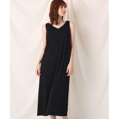 Couture Brooch/クチュールブローチ 2WAY 肩リボンカットソーワンピース ブラック(019) 38(M)