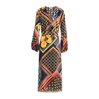 OTTOD'AME 7分丈ワンピース・ドレス パープル 40 ポリエステル 100% 7分丈ワンピース・ドレス