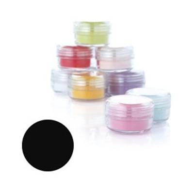 Fleurir カラーパウダー BR-M ブラック 4g【3Dアート・アクリリックスカルプチュア関連ネイル用品】