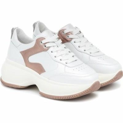 ホーガン Hogan レディース スニーカー シューズ・靴 Maxi I Active leather sneakers Bianco Salmone