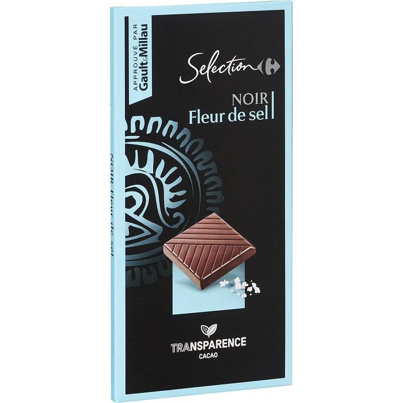 家福精選鹽之花黑巧克力