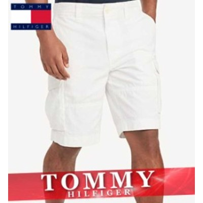 トミーヒルフィガー ショートパンツ ハーフ 短パン カーゴ メンズ エッセンシャル ロゴ ワンポイント ボトムス 半ズボン 新作 TOMMY