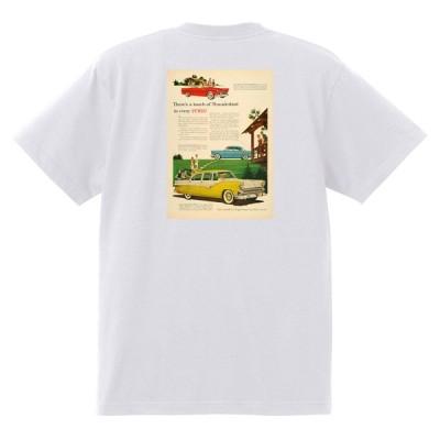 アドバタイジング フォード 899 白 Tシャツ 黒地へ変更可 1955 サンダーバード フェアレーン サンライナー ビクトリア フェアモント