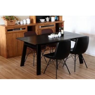 グレイル 160ダイニングテーブルブラック ダイニング デザイナーズ カフェ テーブル 食卓 幅160 北欧