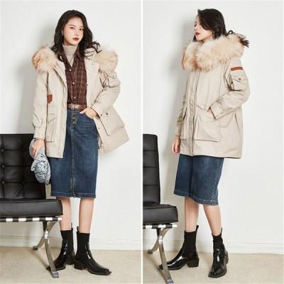 ダウンコート ロング コート 中綿ダウンコート フード付き フェザー アウター レディース トレンチコート ロングコート 40代 取り外し可能 暖かい 高級