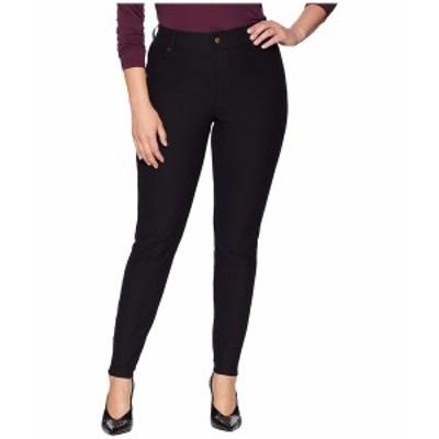 ヒュー レディース デニムパンツ ボトムス Plus Size Essential Denim Leggings Black