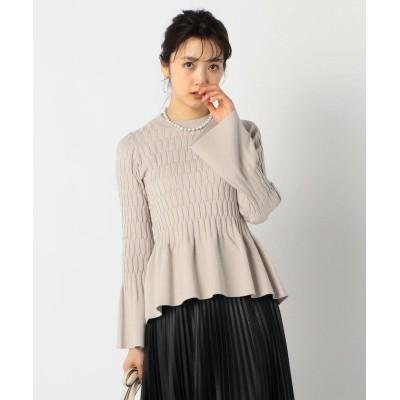 (NOLLEY'S sophi/ノーリーズソフィー)裾フレアプルオーバーニット/レディース ベージュ