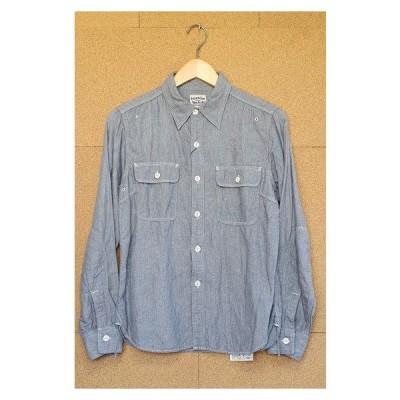 PHERROW'S フェローズ 40年代モデルワークシャツ S GRY マチ チンスト 空環 ユニチケ 770WS