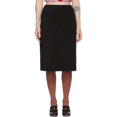 グッチ Gucci レディース ひざ丈スカート スカート Black Wool Jersey Skirt Black