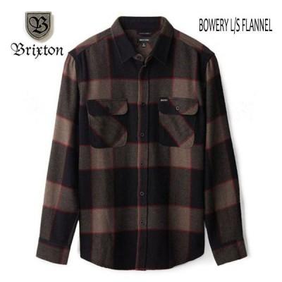 BRIXTON・ブリクストン/20FA/長袖チェックシャツ,フランネルシャツ/BOWERY L/S FLANNEL/HEATHER GREY/CHARCOAL・ヘザーグレーxチャコール/メンズ