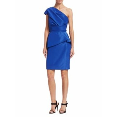 モニークリュエリエ レディース ワンピース One Shoulder Peplum Dress