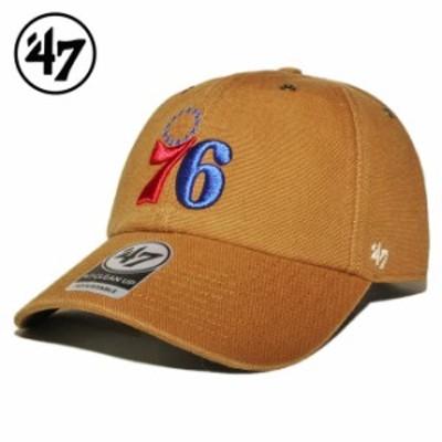 47ブランド カーハート コラボ ストラップバックキャップ 帽子 メンズ レディース 47BRAND CARHARTT NBA フィラデルフィア セブンティシ