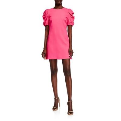 アリス アンド オリビア レディース ワンピース トップス Hanita Short Puff-Sleeve Shift Dress