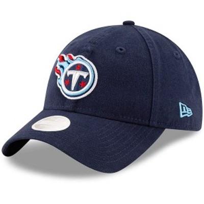 ニューエラ レディース 帽子 アクセサリー Tennessee Titans New Era Women's Core Classic Primary 9TWENTY Adjustable Hat Navy