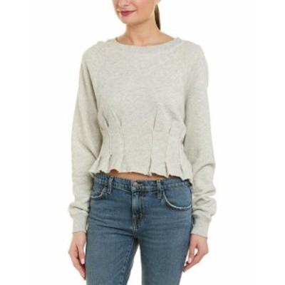 ファッション トップス Current/Elliott The Pintucked Sweatshirt