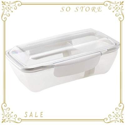 小森樹脂 弁当箱 500ml プレミアム ドーム ランチボックス 汚れが落ちやすい レンジ・食洗器 可 ホワイトKLBTL5