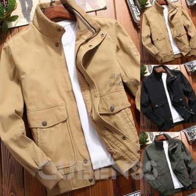 ジャケット メンズ カジュアル 防風防寒 無地 30代 秋冬 コート 50代 きれいめ 長袖 40代 ファッション シンプル ジップアップ 60代