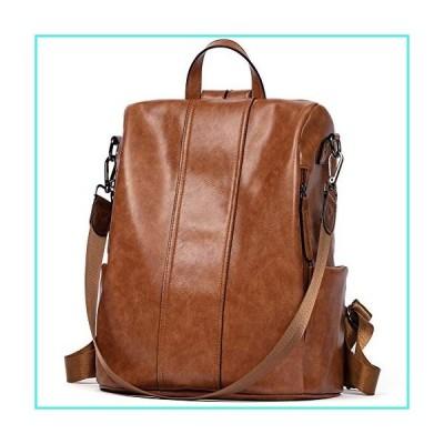 【新品】BROMEN Women Backpack Purse Leather Anti-theft Backpack Fashion Travel Daypack Shoulder Handbag Brown(並行輸入品)