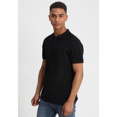 ジャック アンド ジョーンズ ポロシャツ メンズ トップス JJEBASIC - Polo shirt - black