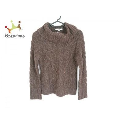 ニジュウサンク 23区 長袖セーター サイズ38 M レディース ブラウン×マルチ タートルネック   スペシャル特価 20200406
