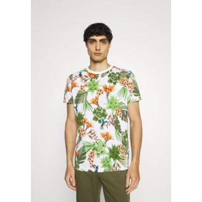 ガント メンズ Tシャツ トップス HUMMING GARDEN  - Print T-shirt - eggshell eggshell