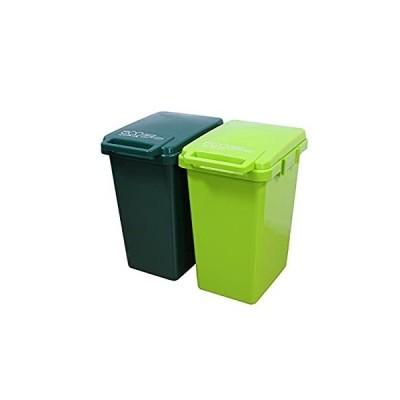 【ゴミ箱 おしゃれ 屋外 ダストボックス ごみ箱 45リットル】連結ワンハンドペール45L 2個セット(B663-2)