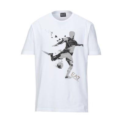 EA7 T シャツ ホワイト XXL コットン 95% / ポリウレタン 5% T シャツ
