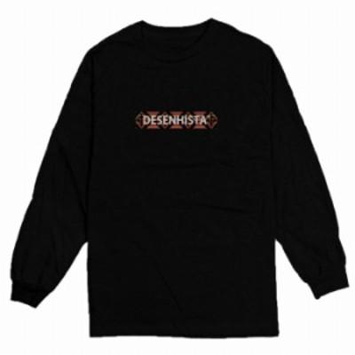ロングTシャツ ブラック 大人 ユニセックス メンズ レディース ビッグシルエット 長袖 ロンT カジュアル オルテガ エスニック シンプル