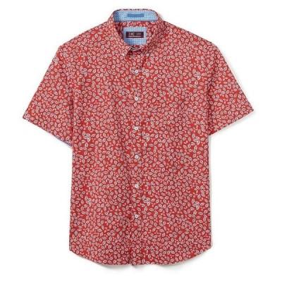 ジョンストンアンドマーフィー メンズ シャツ トップス XC4 Leaf Print Stretch Short-Sleeve Woven Shirt