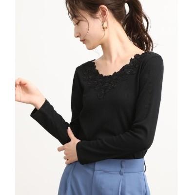 tシャツ Tシャツ 衿レーステレコプルオーバー