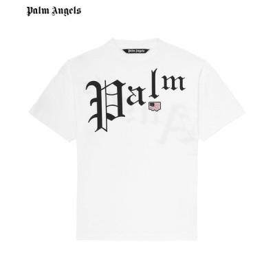 PALM ANGELS パーム エンジェルス メンズ Tシャツ NEW GOTHIC TEE ホワイト PMAA001S204130120110 半袖 トップス ロゴ 送料無料