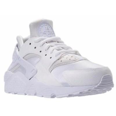 即納 ナイキ レディース ハラチラン Nike Air Huarache Run ランニングシューズ White/White