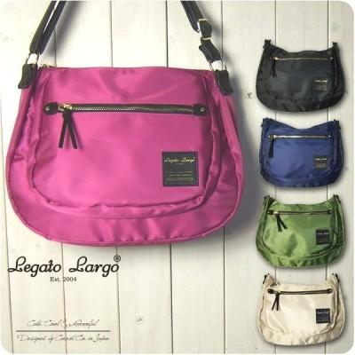 Legato Largo レガートラルゴ ショルダーバッグ レディース 撥水高密度ナイロン素材 7ポケット ラウンドショルダー
