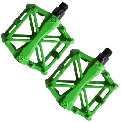 こもれび屋 ペダル 自転車 バイク アルミ合金ペダル マウンテンバイク ロードバイク用 2個セット 滑り止め 軽量 耐久性 OD06 (ライトグリーン)