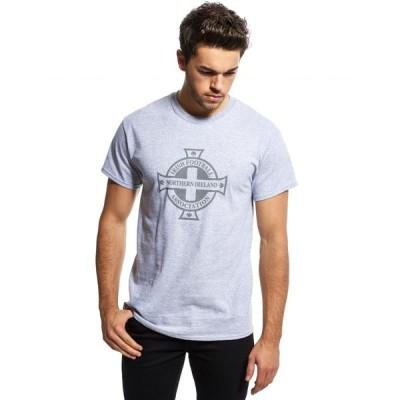オフィシャルチーム Official Team メンズ Tシャツ トップス Northern Ireland Crest T-Shirt grey