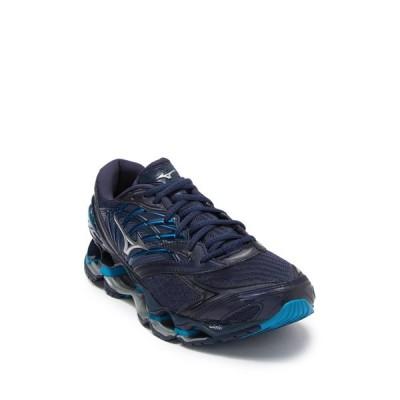 ミズノ メンズ スニーカー シューズ Wave Prophecy 8 Running Shoe BL WNG TEAL SIL