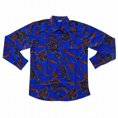 バティックシャツ 長袖シャツ コットン 150351 【メール便OK】