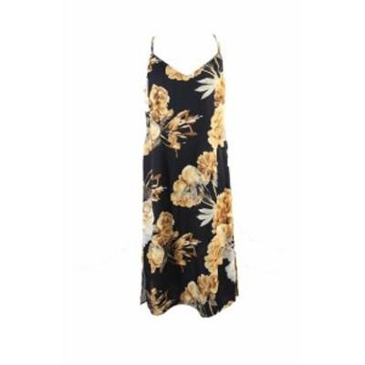 Robe  ファッション ドレス Encre International Concepts Noir Multi Imprime Fleur Glissant Robe 16