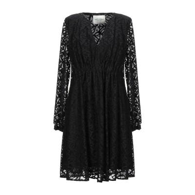 RUE•8ISQUIT ミニワンピース&ドレス ブラック 40 ナイロン 92% / ポリウレタン 8% / コットン ミニワンピース&ドレス