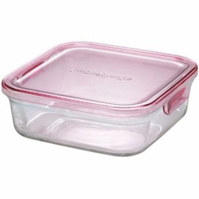 イワキ(iwaki) パック&レンジBOX 小 ピンク K3247N-P 【保存容器 ガラス キッチン用品】