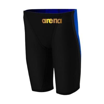 アリーナ(arena) メンズ 競泳水着 ハーフスパッツ ブラック×ゴールド ARN-0001M BKGD FINA承認 男性用競泳水着 競技用 スイムウェア
