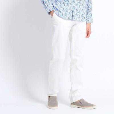 タケオ キクチ TAKEO KIKUCHI 【Sサイズ~】トリコチン ストレッチ パンツ (ホワイト)