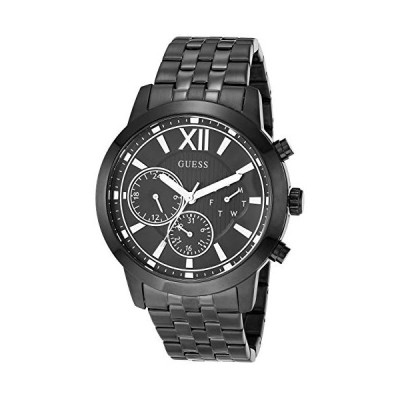GUESS Men's Analog Quartz Watch with Stainless Steel Strap, Black, 22 (Mode