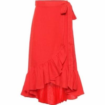 ラルフ ローレン Polo Ralph Lauren レディース スカート ラップスカート High-Rise Linen Wrap Skirt African Red