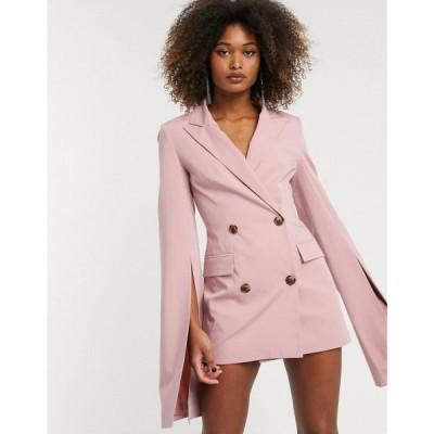 エイソス ASOS DESIGN レディース スーツ・ジャケット アウター premium longerline split sleeve blazer ベビーピンク
