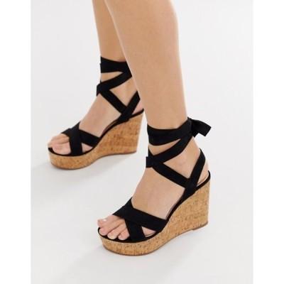 トリュフコレクション レディース サンダル シューズ Truffle Collection tie ankle wedges