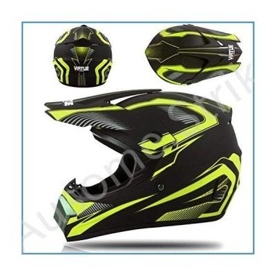 MASP Motorcycle Modular Full Face Helmet Motocross Helmet with Goggles Gloves Mask DOT Approved for Dirt Bike ATV Beach Racing (Color : D, Size : S=(5